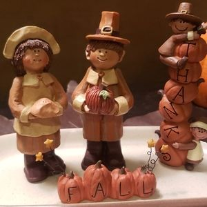 Boyds bears thanksgiving figurines